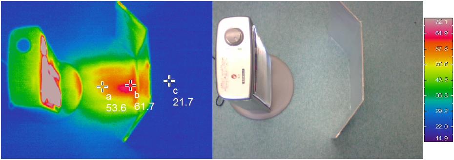 遮熱シート実験(サーモ)